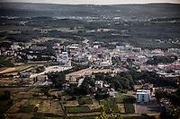A view of Medjugorje village from the Mt. Krizevac.<br /> Medjugorje, Bosnia and Herzegovina. July 2012