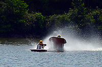 Frame 4: 40-M rides up the rooster tail of 20-M    (Outboard Hydroplane)