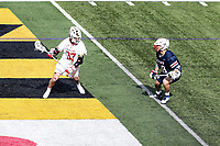 College Park, MD - February 15, 2020: duMaryland Terrapins attack Daniel Maltz (37) in action during the game between Penn and Maryland at  Capital One Field at Maryland Stadium in College Park, MD.  (Photo by Elliott Brown/Media Images International)