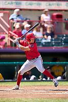 Harrisburg Senators K.J. Harrison (22) bats during a game against the Erie Seawolves on September 5, 2021 at UPMC Park in Erie, Pennsylvania.  (Mike Janes/Four Seam Images)