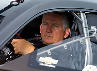 Aug 31, 2014; Clermont, IN, USA; NHRA pro stock driver Rodger Brogdon during qualifying for the US Nationals at Lucas Oil Raceway. Mandatory Credit: Mark J. Rebilas-USA TODAY Sports