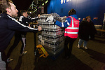 Leicester City 0 Manchester City 0, 29/12/2015. King Power Stadium, Premier League. Staff providing 30,000 Leicester fans with a free bottle of beer courtesy of the clubs thai owners, at The King Power Stadium Leicester, before the goalless draw between Leicester City and Manchester City. Photo by Paul Thompson.