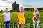 Ann Marie Tydings, Bridie Chute and Maggie Hayes, members of the Ballybunion Pattern Day Committee launch their festivities on Sunday in Ballybunion. The event of music, song and dance will be held on the Castle Green at starting at 6.15pm on Saturday August 15th.