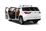 Car images close up view of a 2018 Chevrolet Traverse High Country 5 Door SUV doors