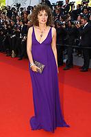 Valeria Golino sur le tapis rouge pour la soirée dans le cadre de la journée anniversaire de la 70e édition du Festival du Film à Cannes, Palais des Festivals et des Congres, Cannes, Sud de la France, mardi 23 mai 2017.