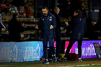 23rd February 2021; Kenilworth Road, Luton, Bedfordshire, England; English Football League Championship Football, Luton Town versus Millwall; Millwall Manager Gary Rowett celebrates the late equaliser from George Evans for 1-1 in injury time