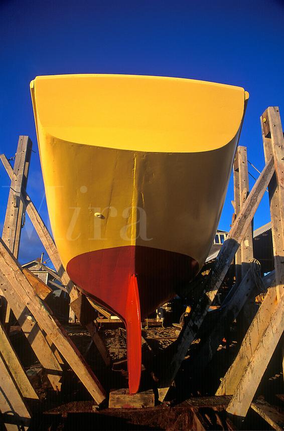Drydocked boat repair, Matha's Vineyard,