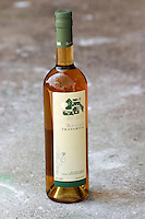 Bottle of Gangas Travarica herb spiced alcohol. Vita@I Vitaai Vitai Gangas Winery, Citluk, near Mostar. Federation Bosne i Hercegovine. Bosnia Herzegovina, Europe.