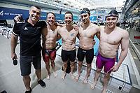 Coast 200IM relay team. New Zealand Short Course Swimming Championships, National Aquatic Centre, Auckland, New Zealand, Thursday 3rd October 2019. Photo: Simon Watts/www.bwmedia.co.nz/SwimmingNZ