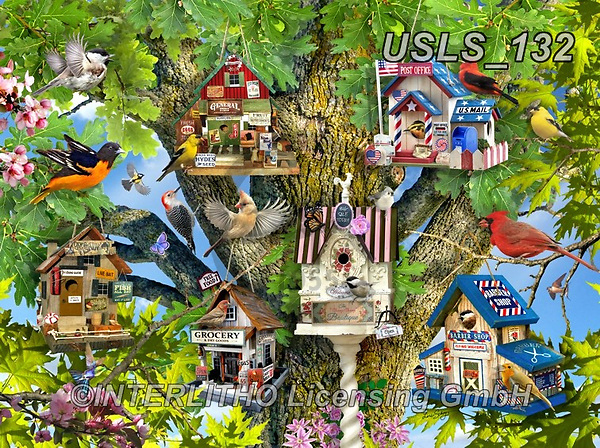 Lori, REALISTIC ANIMALS, REALISTISCHE TIERE, ANIMALES REALISTICOS, zeich, paintings+++++Birdhouse Town_4_72_Ravensburger,USLS132,#a#, EVERYDAY ,puzzle,puzzles