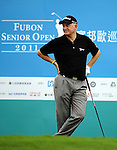TAIPEI, TAIWAN - NOVEMBER 19:  Roger Chapman of England stands on the 1st tee during day two of the Fubon Senior Open at Miramar Golf & Country Club on November 19, 2011 in Taipei, Taiwan. Photo by Victor Fraile / The Power of Sport Images