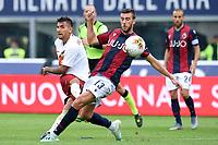 Lorenzo Pellegrini Roma, Mattia Bani Bologna <br /> Bologna 22/09/2019 Stadio Renato Dall'Ara <br /> Football Serie A 2019/2020 <br /> Bologna FC - AS Roma <br /> Photo Massimiliano Vitez / Image Sport / Insidefoto