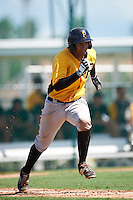 Pittsburgh Pirates Raul Hernandez (92) during an Instructional League Intrasquad Black & Gold game on September 20, 2016 at Pirate City in Bradenton, Florida.  (Mike Janes/Four Seam Images)