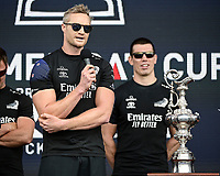 16th March 2021; Waitemata Harbour, Auckland, New Zealand;  Steven Ferguson at the pre-race show.<br />