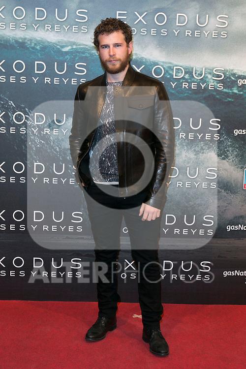 "Alvaro Cervantes attend the Premiere of the movie ""EXODUS: GODS AND KINGS"" at callao Cinema in Madrid, Spain. December 4, 2014. (ALTERPHOTOS/Carlos Dafonte)"