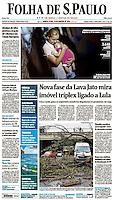 28.01.2016: Folha de S.Paulo - ''No caminho''. Árvore que caiu sobre dois veículos na Av 23. de Maio(sentido aeroporto). (Foto: Fábio Vieira/FotoRua)