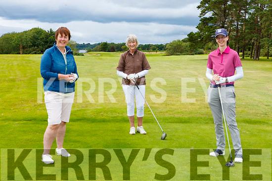 Leila Moloney Castleisland Nuala Meade and Jane Dwyer Killarney enjoying a round of golf in Killarney Golf and Fishing club on Sunday