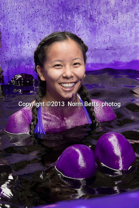The University of Toronto<br /> Toronto, Ontario, Canada<br /> Every fall freshman engineers at most Canadian universities, are dyed purple by the more senior class, as part of student orientation  ---  all in fun, the dye wears off after about a week<br /> Sept 02, 2013<br /> Norm Betts, photographer<br /> 416 460 8743<br /> normbetts@canadianphotographer.com<br /> ©2013, normbetts, photographer