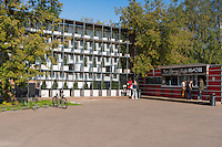 Snack-bar and drinks cafe in Gorky park, Moscow, Russia