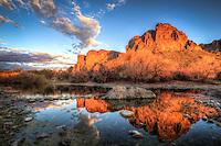Rocky Reflection - Arizona - Salt River