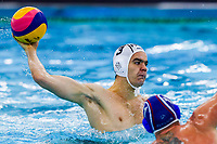14-02-2021: Waterpolo: France v Russia: Rotterdam<br /> <br /> ROTTERDAM, NETHERLANDS - FEBRUARY 14: Romain Marion Vernoux of France during the Olympic Waterpolo Qualification Tournament 2021 match between France and Russia at Zwemcentrum Rotterdam on February 14, 2021 in Rotterdam, Netherlands (Photo by Marcel ter Bals/Orange Pictures)