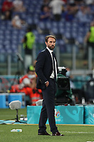 3rd July 2021, Stadio Olimpico, Rome, Italy;  Euro 2020 Football Championships, England versus Ukraine quarter final;  Gareth Southgate, head coach of England, reacts to ENgland taking the lead