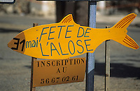 Europe/France/Aquitaine/33/Gironde/Langoiran: Panneau de la fête de l'alose