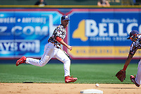 Reading Fightin Phils shortstop KC Serna (5) during a game against the New Hampshire Fisher Cats on June 6, 2016 at FirstEnergy Stadium in Reading, Pennsylvania.  Reading defeated New Hampshire 2-1.  (Mike Janes/Four Seam Images)