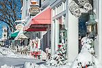 Fresh snow in Chatham, Cape Cod, Massachusetts, USA