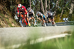 The peloton descends during Stage 15 of the Vuelta Espana 2020, running 230.8km from Mos to Puebla de Sanabria, Spain. 5th November 2020. <br /> Picture: Unipublic/Charly Lopez | Cyclefile<br /> <br /> All photos usage must carry mandatory copyright credit (© Cyclefile | Unipublic/Charly Lopez)