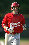WOLCOTT, CT, 06 JULY 2011-070611JS08---Wolcott's Miek Vaccarelli (2) is all smiles as he come home after blasting a two0run homerun during their 4-3 win over Torrington in American Legion action Wednesday at Wolcott High School.<br /> Jim Shannon/Republican-American