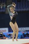 October 2009.World Championships Gymnastics at the O2 Arena London.<br /> Womens qualifications.