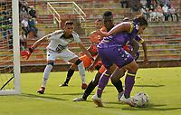 VILLAVICENCIO - COLOMBIA, 01-09-2021: Llaneros F. C. y La Equidad durante partido de octavos de final vuelta Copa BetPlay DIMAYOR 2021 en el estadio Bello Horizonte de la ciudad Villavicencio. / Llaneros F. C. and La Equidad during a match of the round of 16 secong leg BetPlay DIMAYOR 2021 Cup Cup at the Bello Horizonte stadium in Villavicencio city. / Photo: VizzorImage / Juan Herrera / Cont.