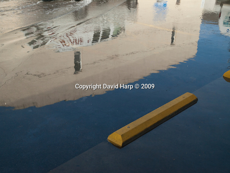 High tide floods the street in Crisfield