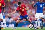 Marco Asensio of Spain in action during their 2018 FIFA World Cup Russia Final Qualification Round 1 Group G match between Spain and Italy on 02 September 2017, at Santiago Bernabeu Stadium, in Madrid, Spain. Photo by Diego Gonzalez / Power Sport Images