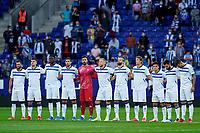 22nd September 2021: RCDE Stadium, Barcelona, Spain: La Liga Football, Espanyol versus Atletico Madrid; <br /> Alaves players line up prior the match
