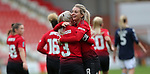 Mollie Green of Manchester United Women on goal cele with Alex Greenwood of Manchester United Women