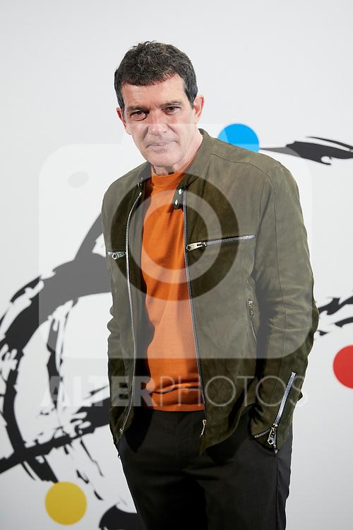Antonio Banderas attends to 'Soho Theatre' photocall at Caixa Bank in Madrid, Spain. February 06, 2019. (ALTERPHOTOS/A. Perez Meca)