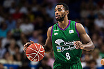 Unicaja Malaga's player Kyle Fogg during match of Liga Endesa at Barclaycard Center in Madrid. September 30, Spain. 2016. (ALTERPHOTOS/BorjaB.Hojas)