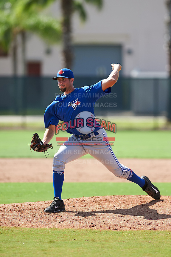 Toronto Blue Jays pitcher Tim Mayza (71) during an instructional league game against the Philadelphia Phillies on October 3, 2015 at the Carpenter Complex in Clearwater, Florida.  (Mike Janes/Four Seam Images)
