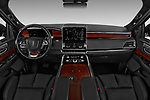 Stock photo of straight dashboard view of a 2018 Lincoln Navigator Select L Extended 4x2 5 Door SUV