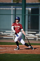 Colton McIntosh (11) of Shadow Mountain High School in Phoenix, Arizona during the Baseball Factory All-America Pre-Season Tournament, powered by Under Armour, on January 13, 2018 at Sloan Park Complex in Mesa, Arizona.  (Mike Janes/Four Seam Images)
