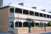 Fremantle: Warders Quarters, Henderson St., 1851. (Note verandahs on this group.) Photo '82.