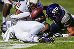 TCU Horned Frogs cornerback Cyd Calvin (22) in action during the game between the Oklahoma State Cowboys and the TCU Horned Frogs at the Amon G. Carter Stadium in Fort Worth, Texas.