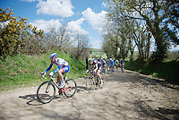 Olivier Le Gac (FRA/FDJ) in front of this bunch<br /> <br /> 33th Tro Bro Léon 2016