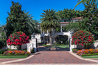 High end estate and security gate, Naples, Florida, USA.