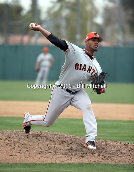 Olbis Parra - San Francisco Giants 2019 spring training (Bill Mitchell)