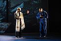 London, UK. 18.10.2013. Boy Blue Entertainment perform THE FIVE AND THE PROPHECY OF PRANA at the Barbican theatre. Dancers are: Michele 'Paleta' Rhyner, Bradley 'Bradz' Charles, Theo 'Godson' Oloyade, Kofi 'Klik' Mingo, Xena Gusthart, Vicky 'Skytilz' Mantey, Duwane Taylor, Kayla Lomas-Kirton, shaun Smith, Hakim Saber and Jumar Aben. Picture shows: Tommy Franzen and Bradley 'Bradz' Charles. Photograph © Jane Hobson.