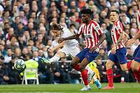 Real Madrid´s  Luka Modric and Atletico de Madrid´s Thomas Partey during La Liga match. February 1, 2020. <br /> (ALTERPHOTOS/David Jar)<br /> 01/02/2020 <br /> Liga Spagna 2019/2020 <br /> Real Madrid - Atletico Madrid  <br /> Foto Alterphotos / Insidefoto <br /> ITALY ONLY