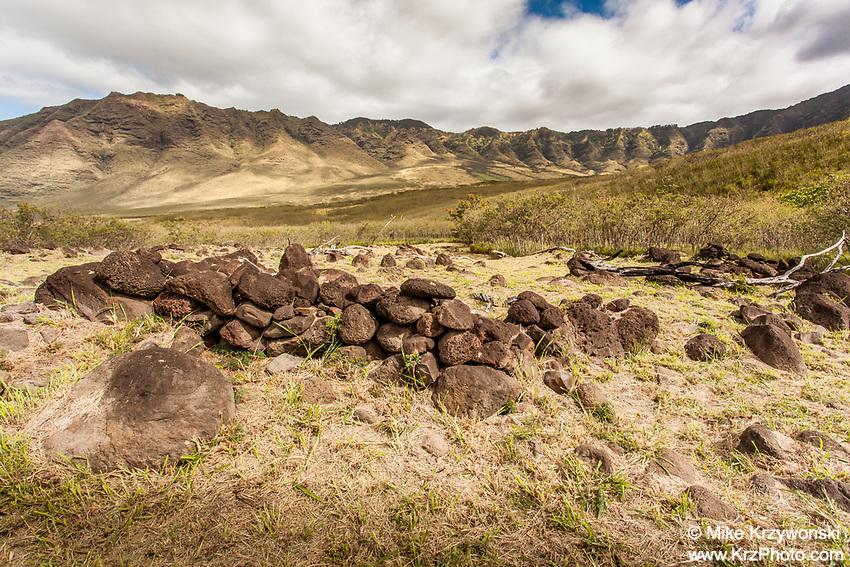 Ukanipo Heiau Ruins, Makua Valley, Oahu
